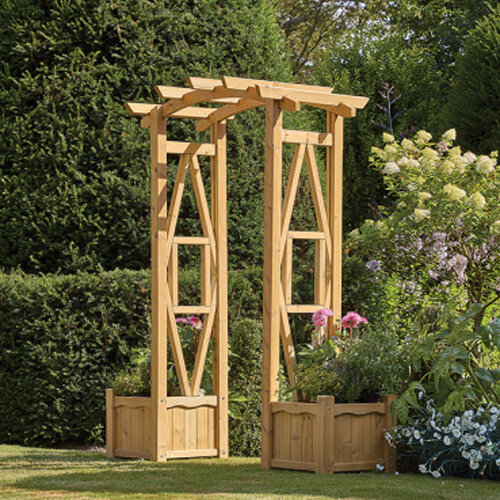 Hanbury Arch & Planter Set