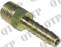 "Hose End 1/4"" BSPT Male 1/4"""