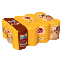 Pedigree Cans Adult in Gravy 400g 12-Pack x 2