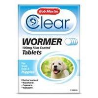 Bob Martin Clear Wormer Tablets Puppy 4 tab x 1