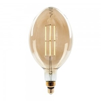 8w BF180 LED Amber Straight Filament E27 Dimmable 2000K