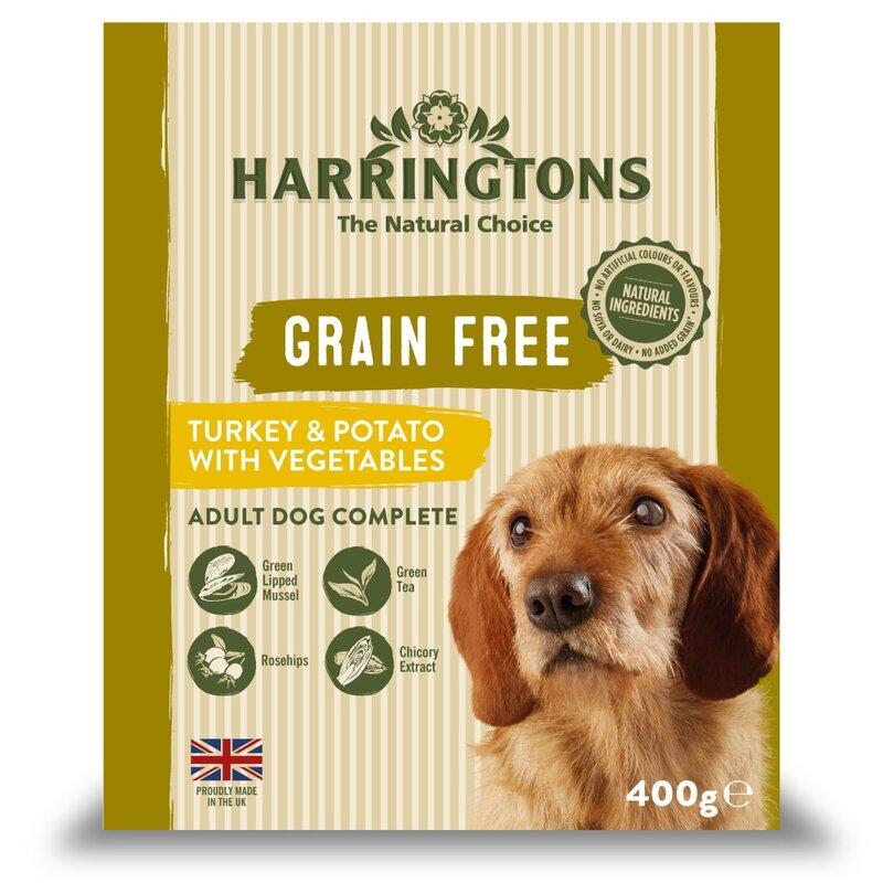 Harringtons Wet Turkey & Potato Dog Food Trays 8 x 400g