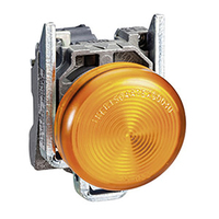 LED Panel Mount Indicator, 250 VAC, 22 mm, IP66, NEMA 4X, NEMA 13