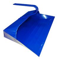 Leecroft Metal Hooded Dustpan Blue