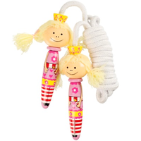 wooden fairy skipping rope