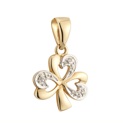 14K DIAMOND SHAMROCK