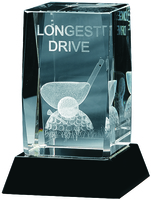 10cm  Longest Drive Trophy (Plain Box)