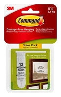 Command Medium Picture Hanging Strips Value12 Pk 17204-12PK