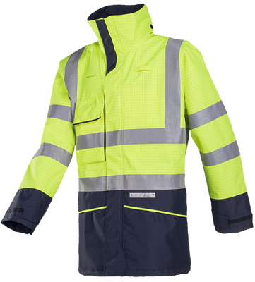 Sioen Hedland Flame retardant, anti-static hi-vis rain jacket