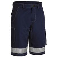 Bisley Men's Lightweight Cotton 3M Taped Cargo Shorts 190gsm