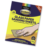 PVAGP/10 PROSOLVE AST GLASS SANDPAPER SHEET 9X11""