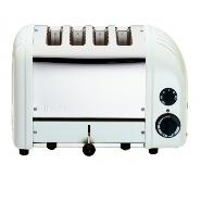Toaster Bread Standard White Ends Proheat 4 Slot Dualit