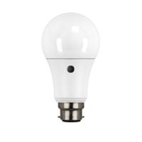 9 WATT BC/B22 LED OPAL 810 LUMEN PHOTOCELL LAMP GLS WARM WHITE 2700K 25000 HOUR