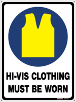MS12  Hi Vis Clothing Must Be Worn