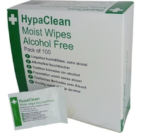 HypaClean Moist Wipes Alcohol Free (100 per pack)