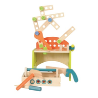Children's wooden tool bench/box set