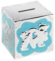 Silver Plated Money Box (Blue) | TC113