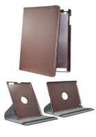 Brown Swivel Case Grey Lining