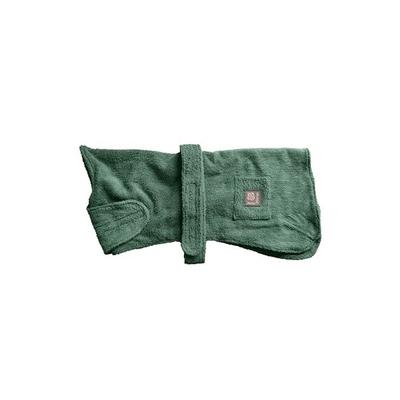 "Danish Design Towelling Dog Robe 16"" Green x 1"