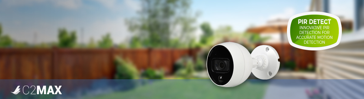 The new 4MP C2Max Bullet Camera with 10m Heat Sensing PIR Detector