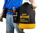 Python Standard safe bucket, load rating 45.4 kg (100 lbs), Hook and loop, Canvas, 30L