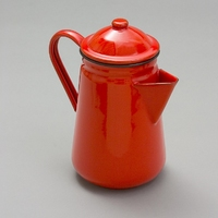 Falcon Enamel Coffee Pot 13cm/1.3L in Red