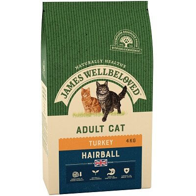 James Wellbeloved Adult Cat Hairball Turkey 4kg