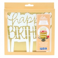 Cake Topper Cutter, Happy Birthday Modern