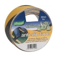 RHINO ADHESIVE ANTI SLIP TAPE YELLOW & BLACK 50MM X 5M ROLL