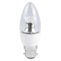 BELL  4WLED BC CL CANDLE DIM 2700K(25W)250LN