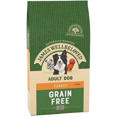 James Wellbeloved Grain Free Turkey & Vegetable Dog Food 1.5kg