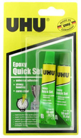 U37555 UHU EPOXY QUICK SET ADHESIVE 2 X 10ML