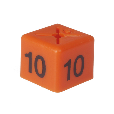 SHOPWORX CUBEX 'Size 10' Size cubes - Orange(Pack 50)