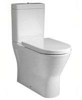 SONAS RESORT FULLY SHROUDED RIMLESS W/C W370 X 450 X 665 MM COMFORT HEIGHT WITH CISTERN AND S/C SEAT