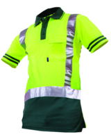 Hi Vis Day/Night Qwikdri Short Sleeve Polo