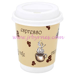Cup 12oz Double Wall Beige WHAT x25