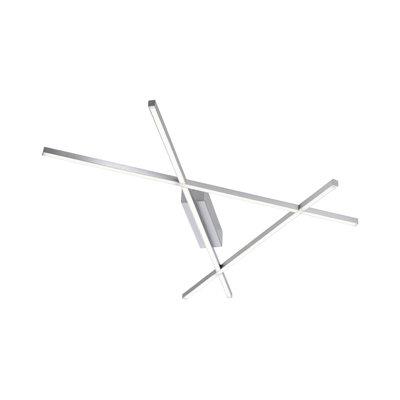 Paul Neuhaus Stick 2 Warm White 24W Stainless Steel LED Wall/Ceiling Light | LV2002.0012