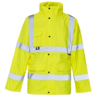 Supertouch Hi-Visibility Breathable PU Jacket, Yellow Lined