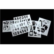 Blackboard Stencil Set Set of 5