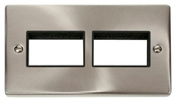 2 Gang Plate (3+3) Aperture Switch Plate (Unfurnished)