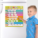 Child using our week magnetic family planner