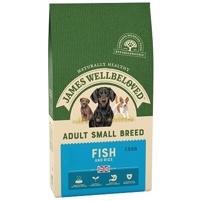 James Wellbeloved Small Breed Fish & Rice Dog Food 7.5kg