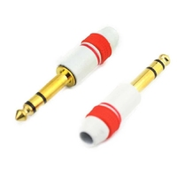 APC-1114 | 6.35MM STEREO PLUG,  GOLDEN