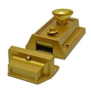 Tessi Traditional Nightlatch 60mm Backset Antique Brass