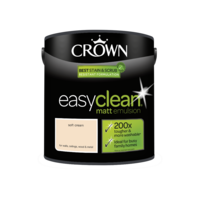 Crown Easyclean Matt Emulsion Soft Cream 2.5LT