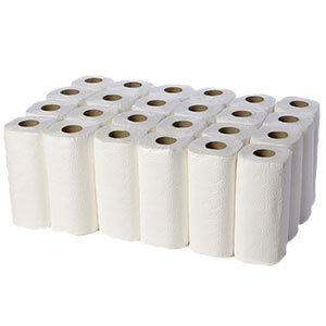 Kitchen Towel Roll White 2Ply