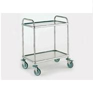 Bourgeat Trolley S/S 2Tier 840 x 540x960mm High With Brakes