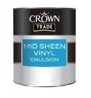 CROWN MID SHEEN EMULSION PAINT MAGNOLIA 5LTR