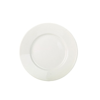 RG Tableware Porcelain White Wide Rim Plate 23cm Carton of 6
