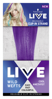 LIVE Colour Wild Wefts Clip In Strand Cool Amethyst 45cm